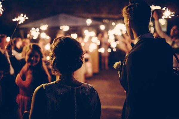 Brautpaar auf Hochzeit